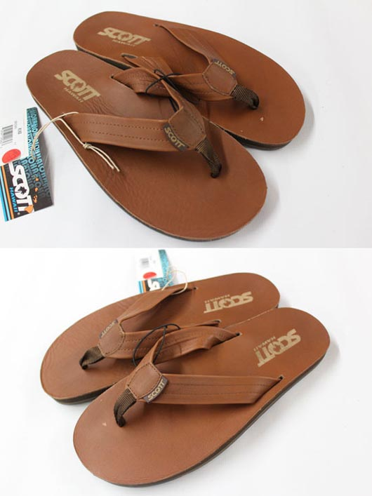 Scott Hawaii KAKEA Mens Sandals Brown