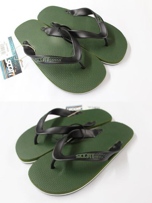 Scott Hawaii MAMAKA Mens Sandals Green